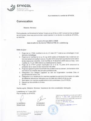 Convocation 15.03.2021