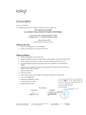 Convocation 20.04.2021