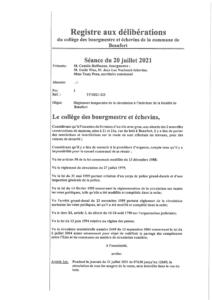 21.07.2021: Rue du Bois fermée